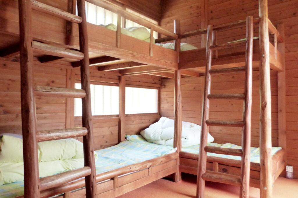コテージには寝具も完備