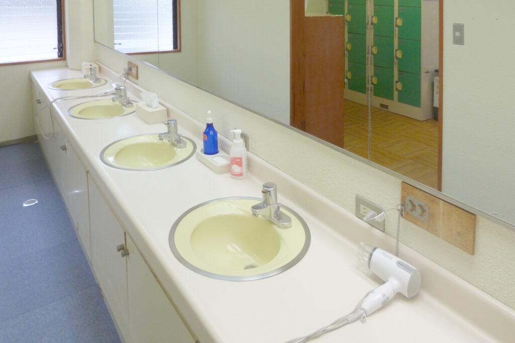 温泉センター 美人の湯・渡瀬温泉 - わたぜおんせん -の洗面所